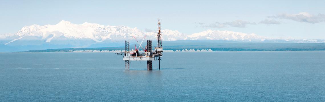 Deutsche Oel und Gas Plattform Alaska